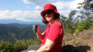 We enjoyed coffee on the top of Mt. Arafune.