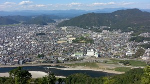 This is what Gifu city looks like from the top of Gifu castle.