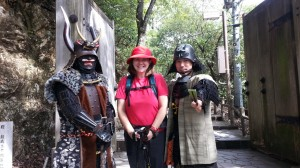 I met some samurai warriors on the way up, who demanded that I take a selfie with them.