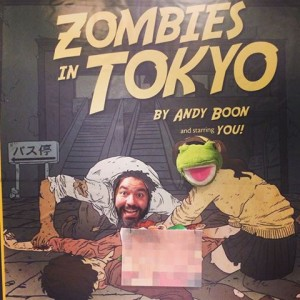 Juan and Buddy the Frog as zombies!