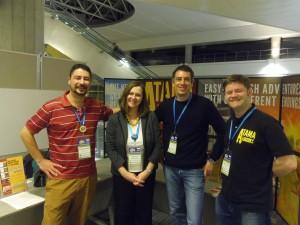 The Atama-ii Books authors: Marcos Benevides, me, James Broadbridge, and Kyle Maclauchlan