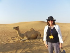 Lesley and the camel